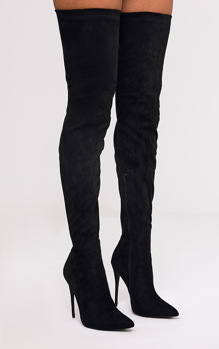 Suede extreme thigh high boots €63