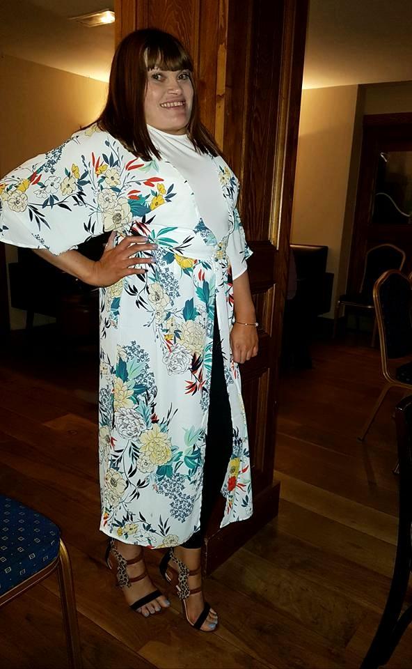 Wearing my new kimono