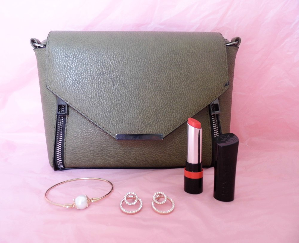 Earrings and Bag Primark and Lipstick from Rimmel London