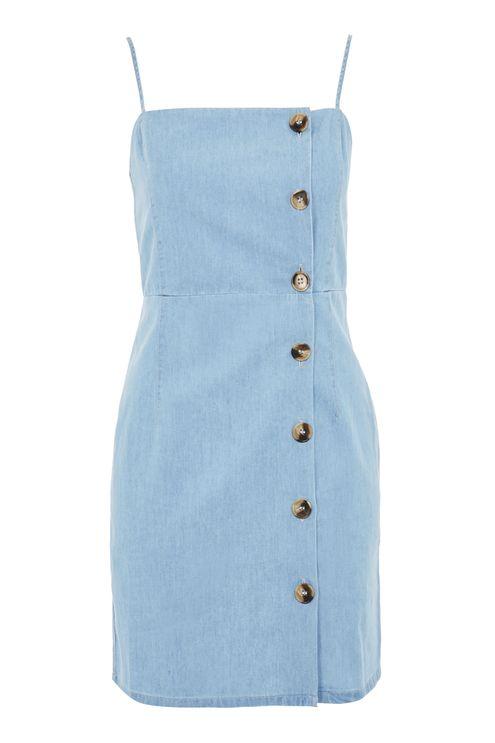 Topshop horn button mini dress