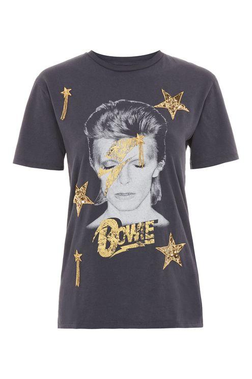 Bowie star sequin t-shirt