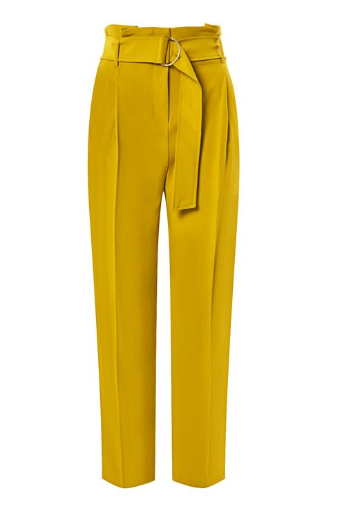 Belted tapered trousers