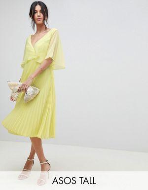 Asos midi dress with pleat skirt