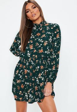 petite-green-high-neck-floral-mini-dress.jpg