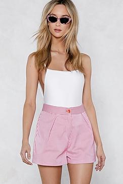 Nasty gal striped shorts