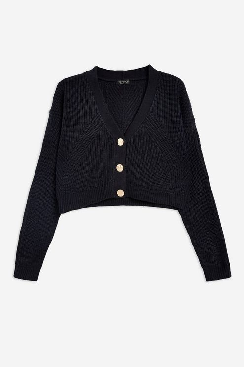 Topshop hammered button cardigan