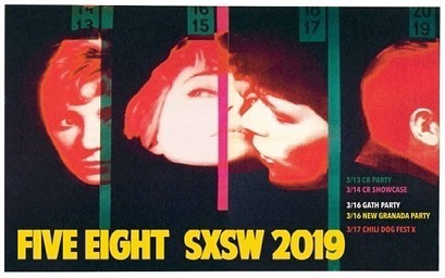 Five Eight at SXSW 2019!!! 3/13 Chicken Ranch Party @ Hole in the Wall (5:30) 3/14 Chicken Ranch Showcase @ Valhalla (Midnight) 3/16 Athens in Austin @ Side Bar (5:30) 3/16 New Granada Party @ Scholz Garten (9:30) 3/17 Chili Dog Fest X @ Side Bar (12:30)