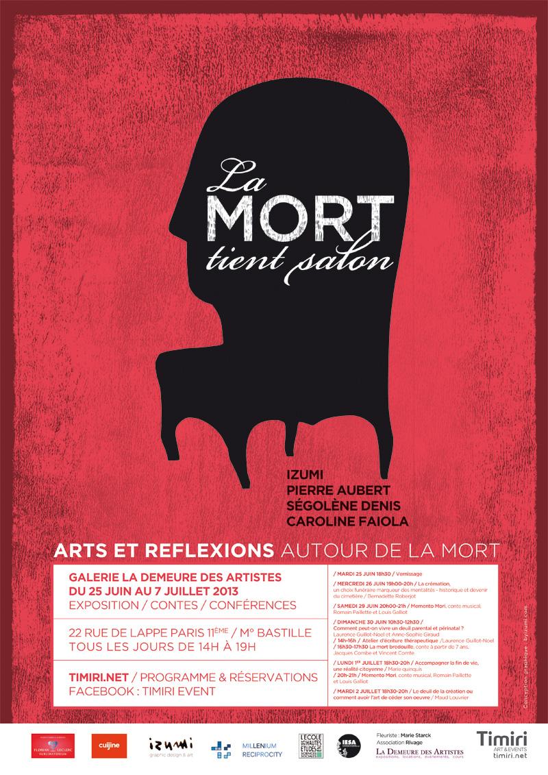 La mort tient salon - Galerie La demeure des artistes22 rue de Lappe - Paris 11