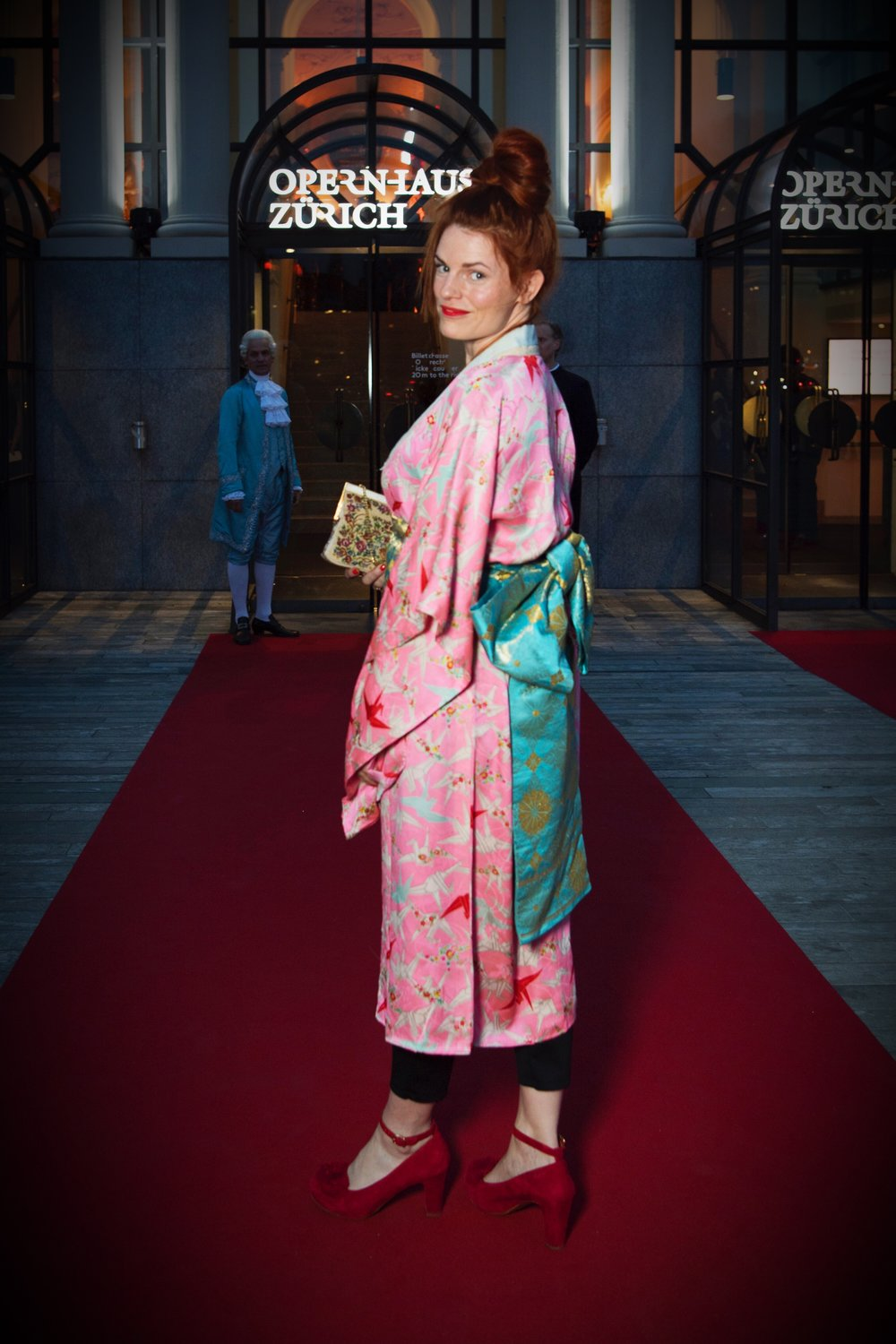Kimono: Second Hand vom Chicago Store in Tokyo, Schuhe: Chie Mihara