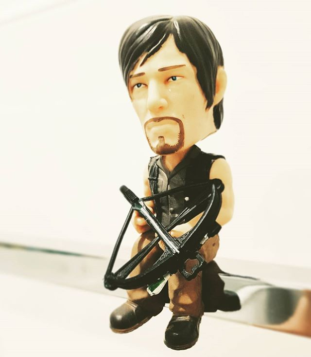 Way too excited for walking dead to come back XD  #thewalkingdead #amc #daryldixon #normanreedus #bobblehead