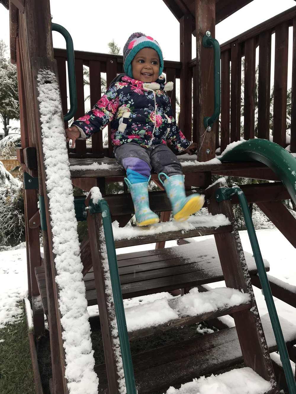 Lily-Grace's First Snow Day