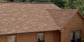 A newly replaced asphalt shingle roof