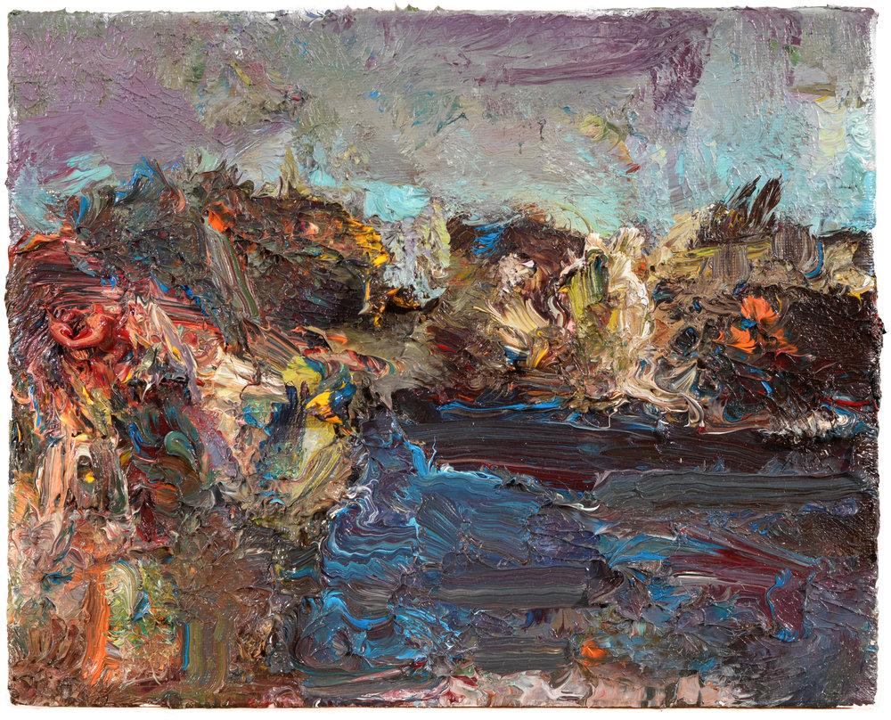 """""""Uncas Lake"""" oil on canvas  2016  8""""x10"""""""