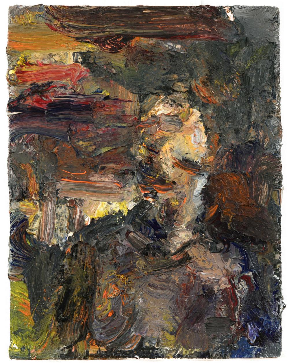"""Portrait"" oil on panel  2016  8""x6"""