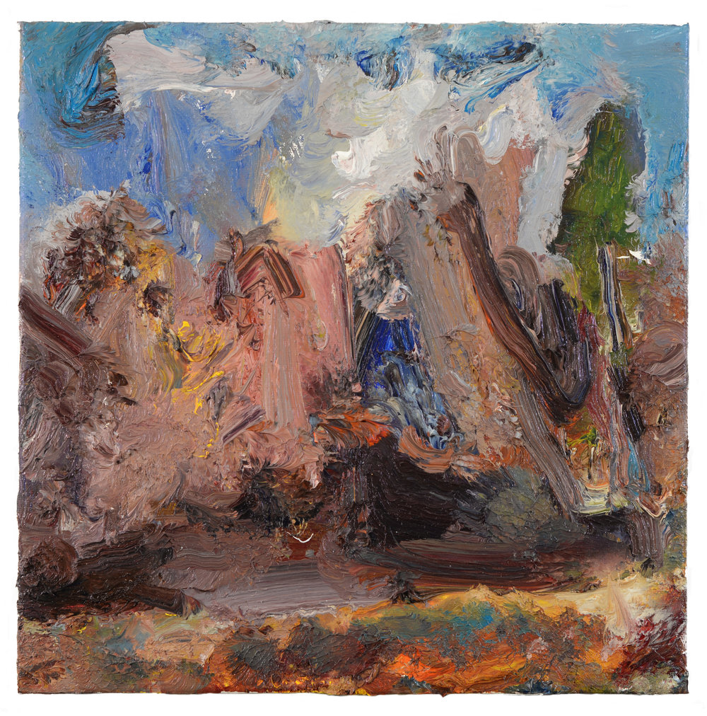 """Pond"" oil on canvas  2016  12""x12"""