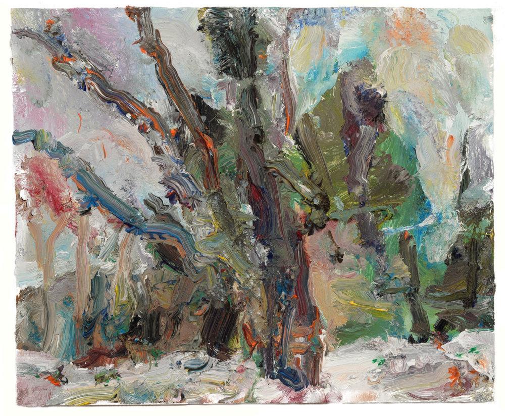 """Snow Landscape"" oil on panel  2016  10""x12"""