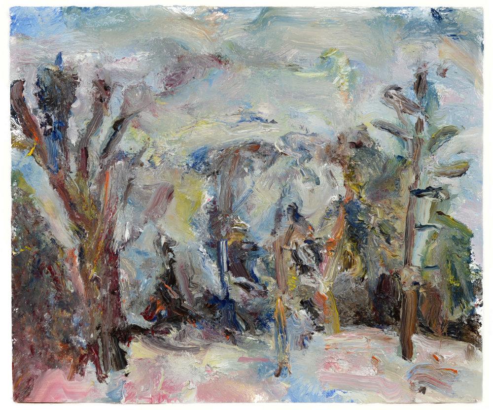 """Snow Landscape"" oil on panel  2016  12""x14.5"""