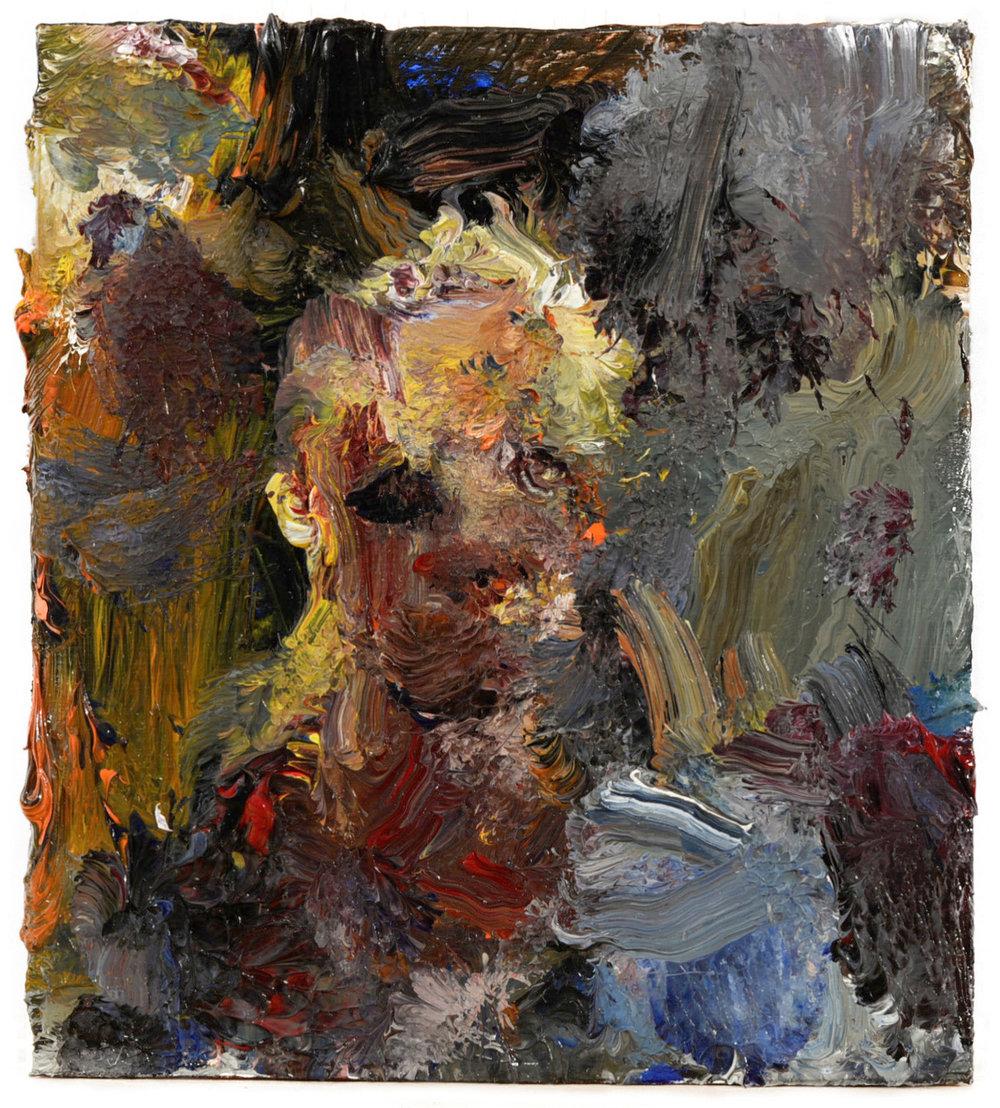 """""""Portrait"""" oil on canvas  2016  4.5""""x4"""""""