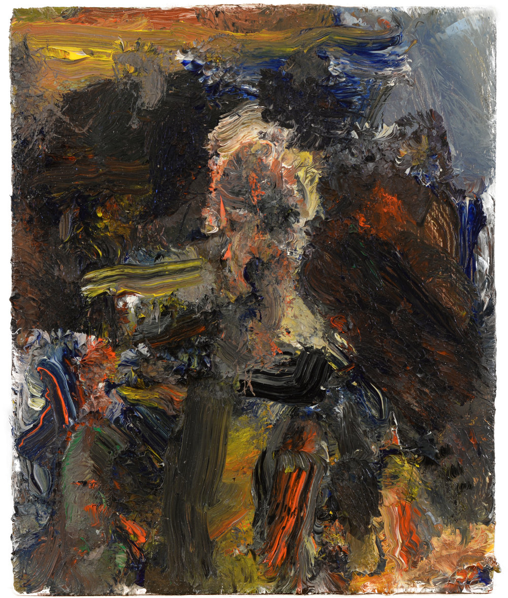 """Self Portrait"" oil on panel  2016  8""x7"""