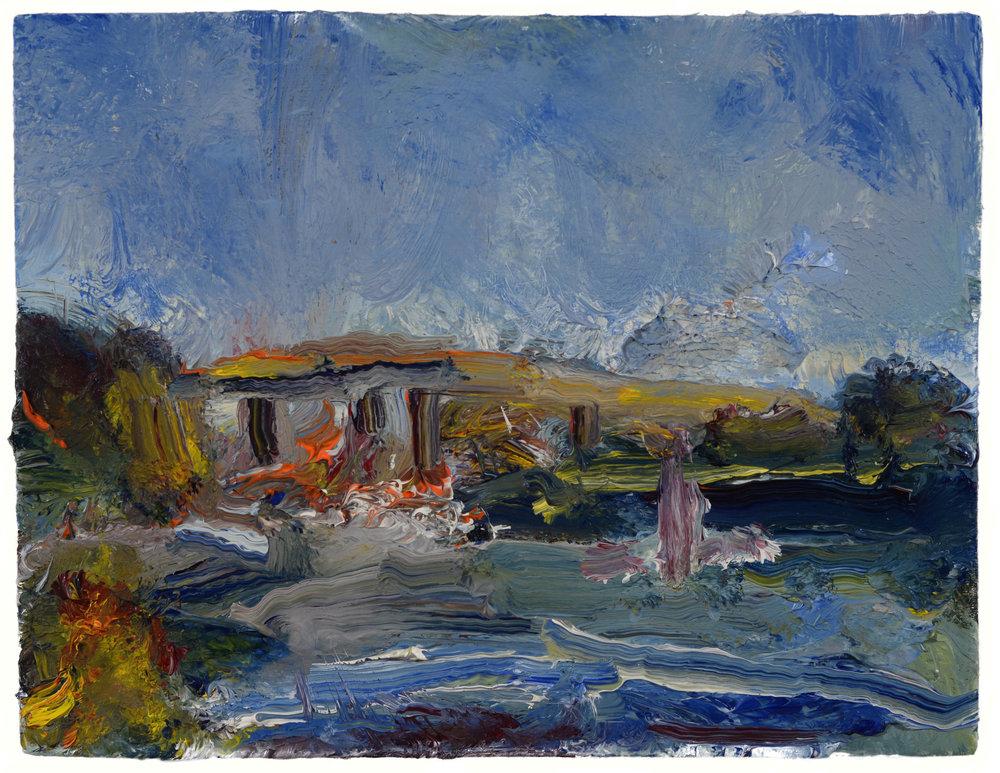 """Baldwin Bridge, Old Lyme"" oil on panel  2016  6""x8"""