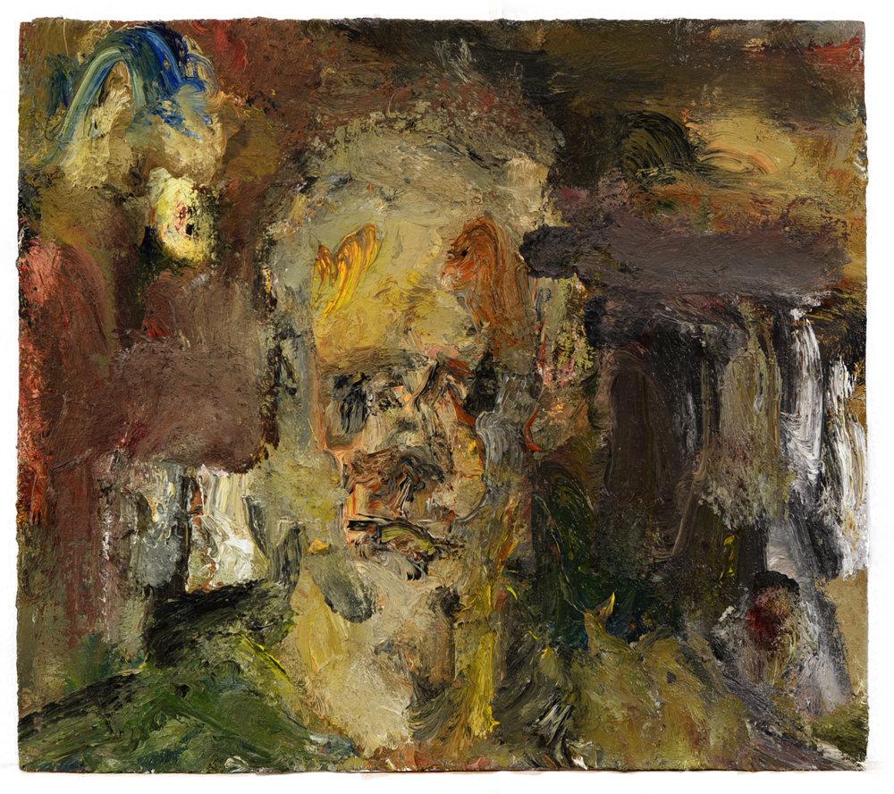 """Self Portrait"" oil on panel  2016  14""x20"""