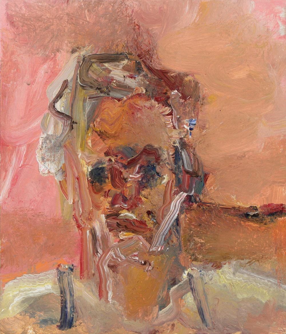 """Self Portrait"" oil on panel  2015  12""x12"""