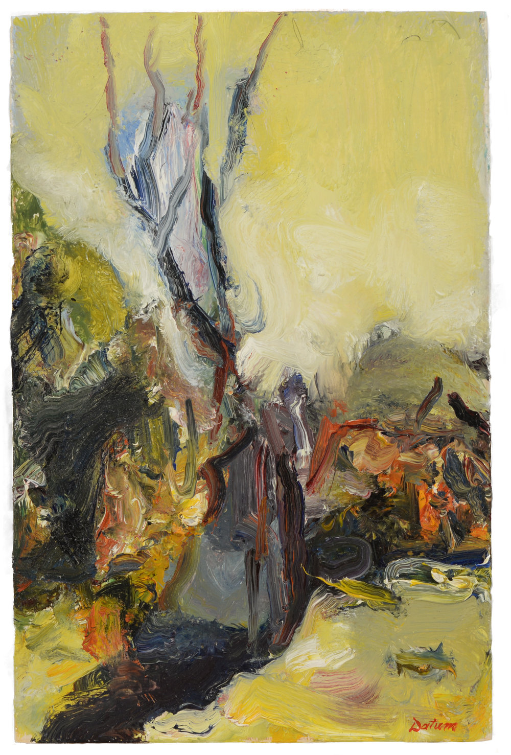 """Tree Stump"" oil on panel  2014  12""x8"""