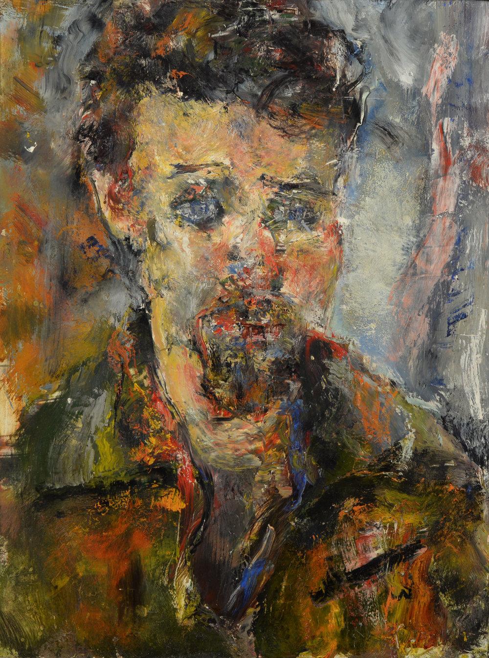 """""""Derek Buckner"""" oil on panel  1994  19""""x14"""""""