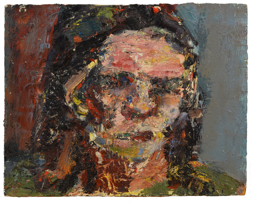 """Greg Wharmby"" oil on panel  1991  12""x15"""