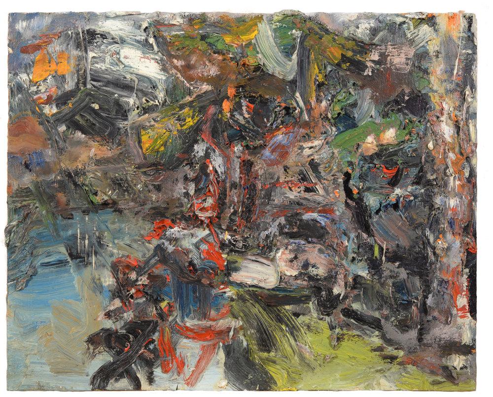 """""""Figures on Marine Drive"""" oil on panel  1991  19""""x23"""""""
