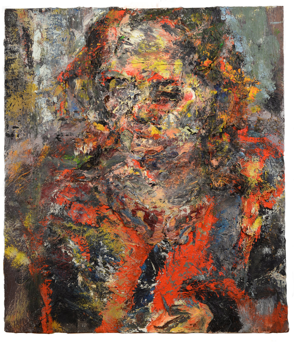 """Portrait"" oil on panel  1990  24""x19"""