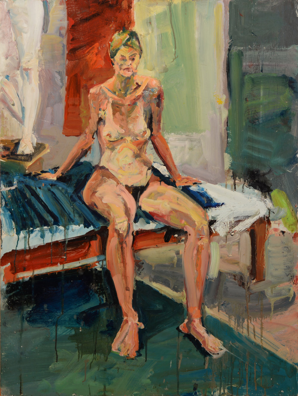 """""""Seated Model"""" oil on panel  1987  32""""x24"""""""