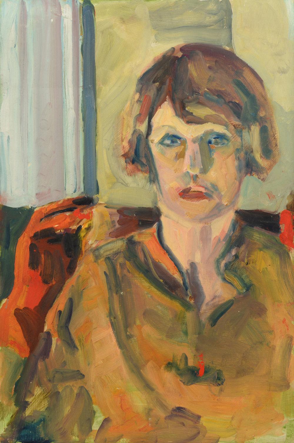 """Christine Collins"" oil on panel  1986  22""x17"""