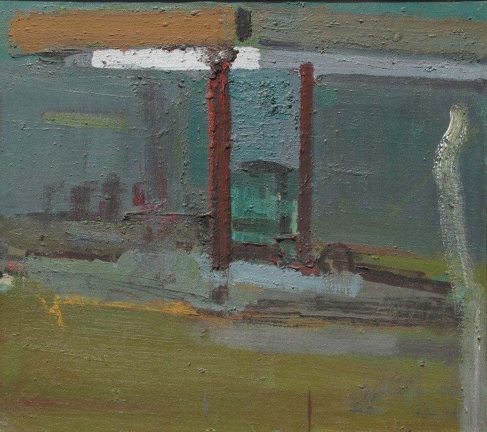 """""""Hess Oil"""" oil on canvas  1989  36""""x40"""""""