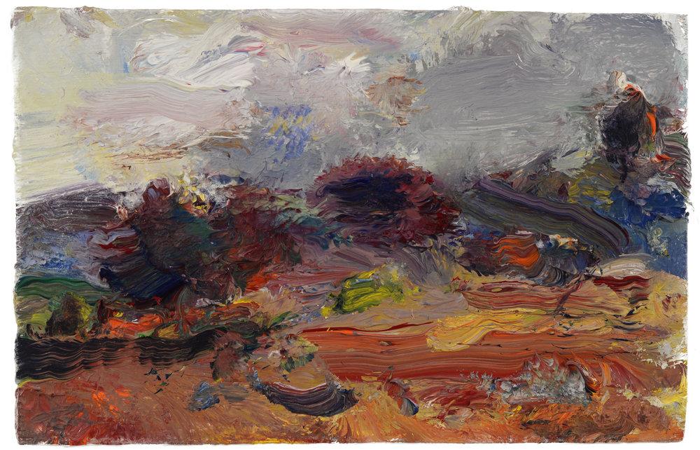 """""""Landscape, Old Lyme"""" oil on panel  2016  6'x10"""""""