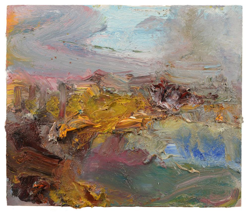 """""""Marsh"""" oil on panel  2018  12""""x 14"""""""