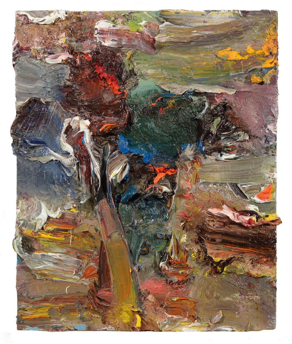 """Vase of Flowers 2"" oil on panel 2018  12""x10"""