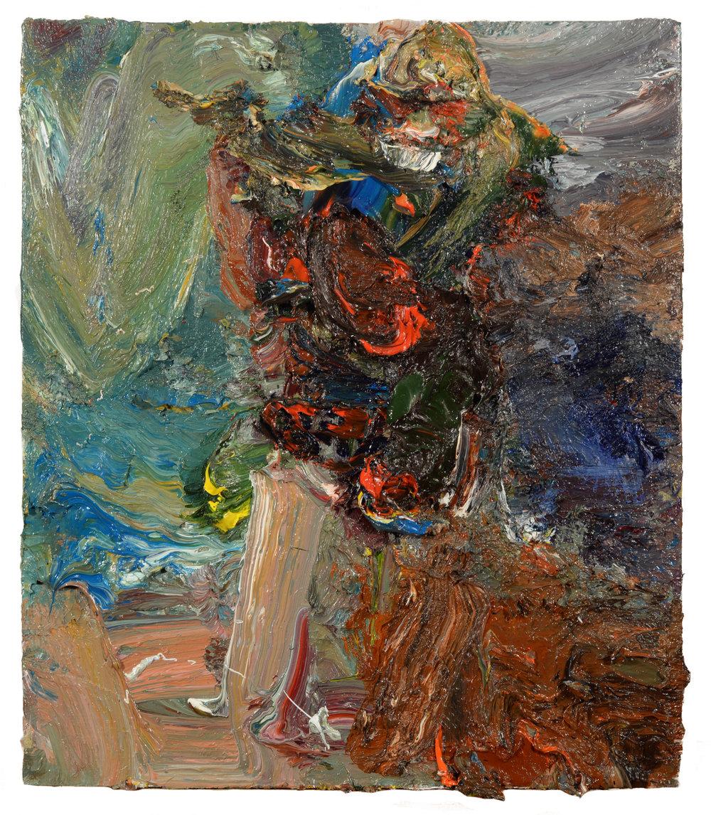 """Vase of Flowers 3"" oil on panel 2018  14""x12"""