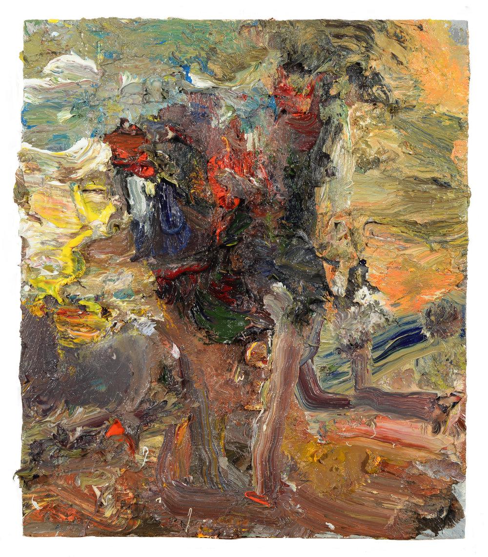 """Vase of Flowers 4"" oil on panel 2018  14""x12"""