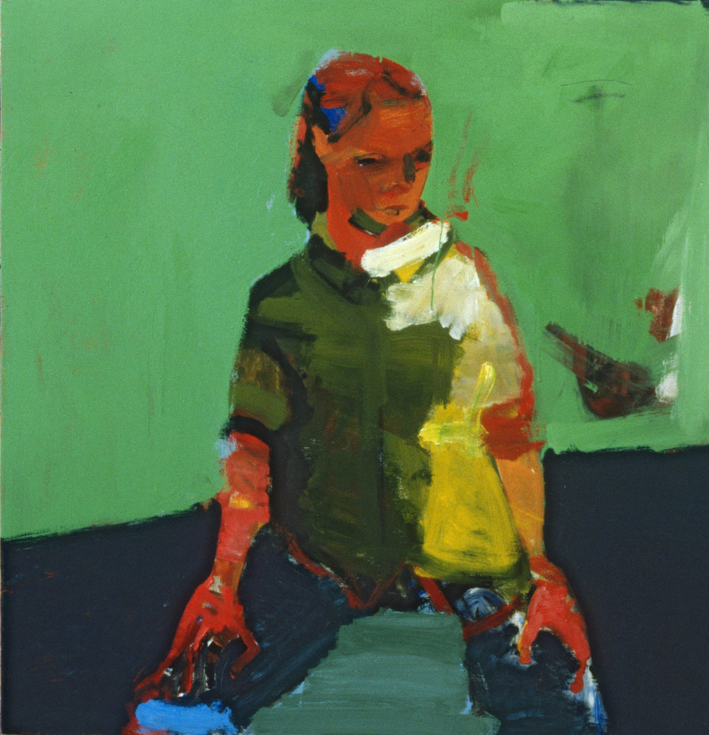 """""""Seated Woman"""" oil on panel  1989 48""""x48"""""""