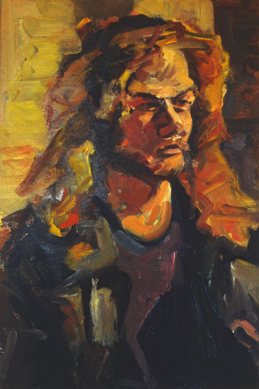 """Portrait of a Man"" oil on panel 1987  20""x12"""