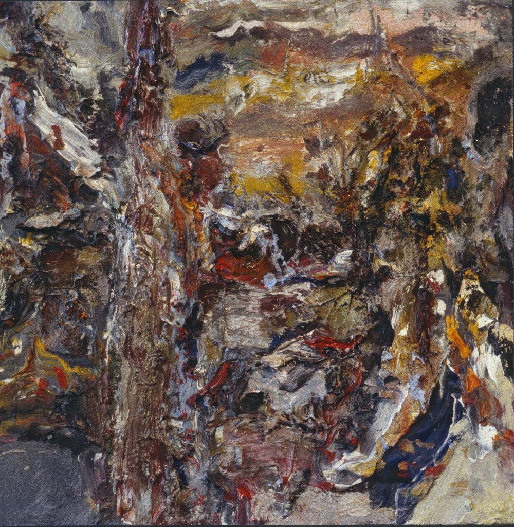 """Gunnison Street, Chicago"" oil on panel 1994  16""x16"""