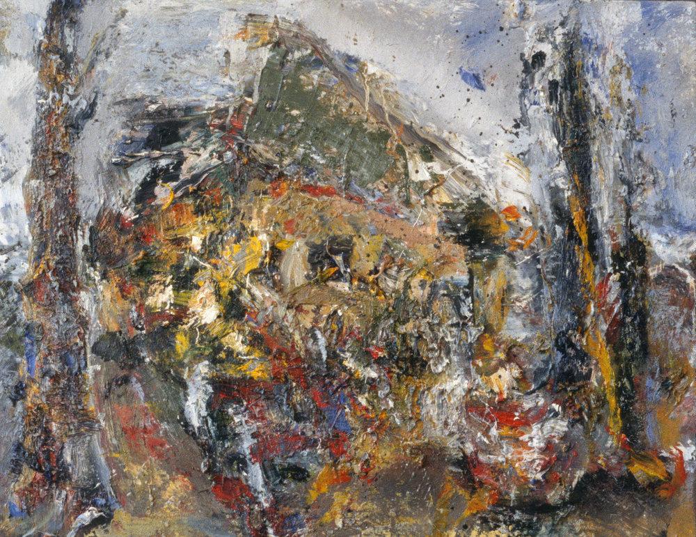 """Garage"" oil on panel 1993 12""x14"""