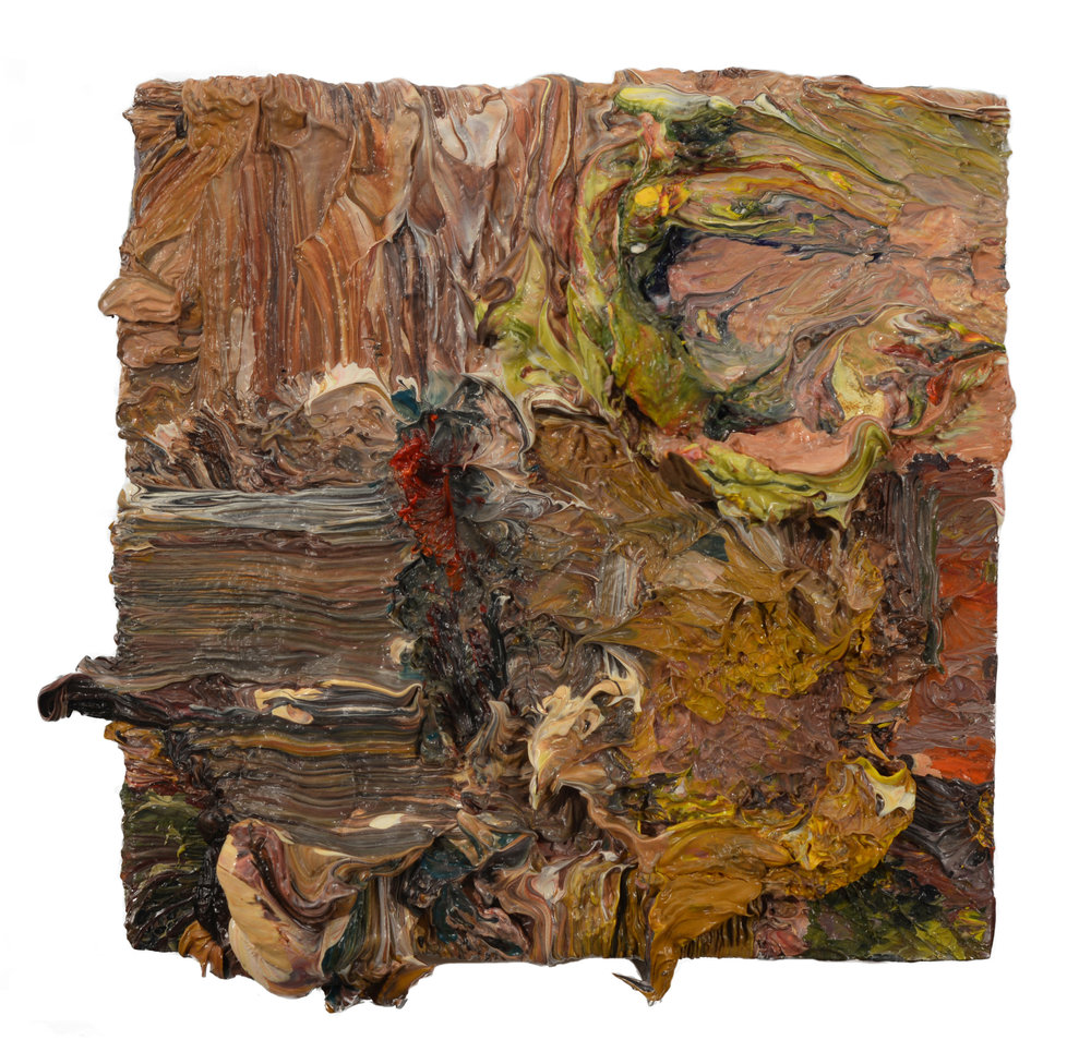 """Studio Interior"" oil on panel 2018  4""x4"""