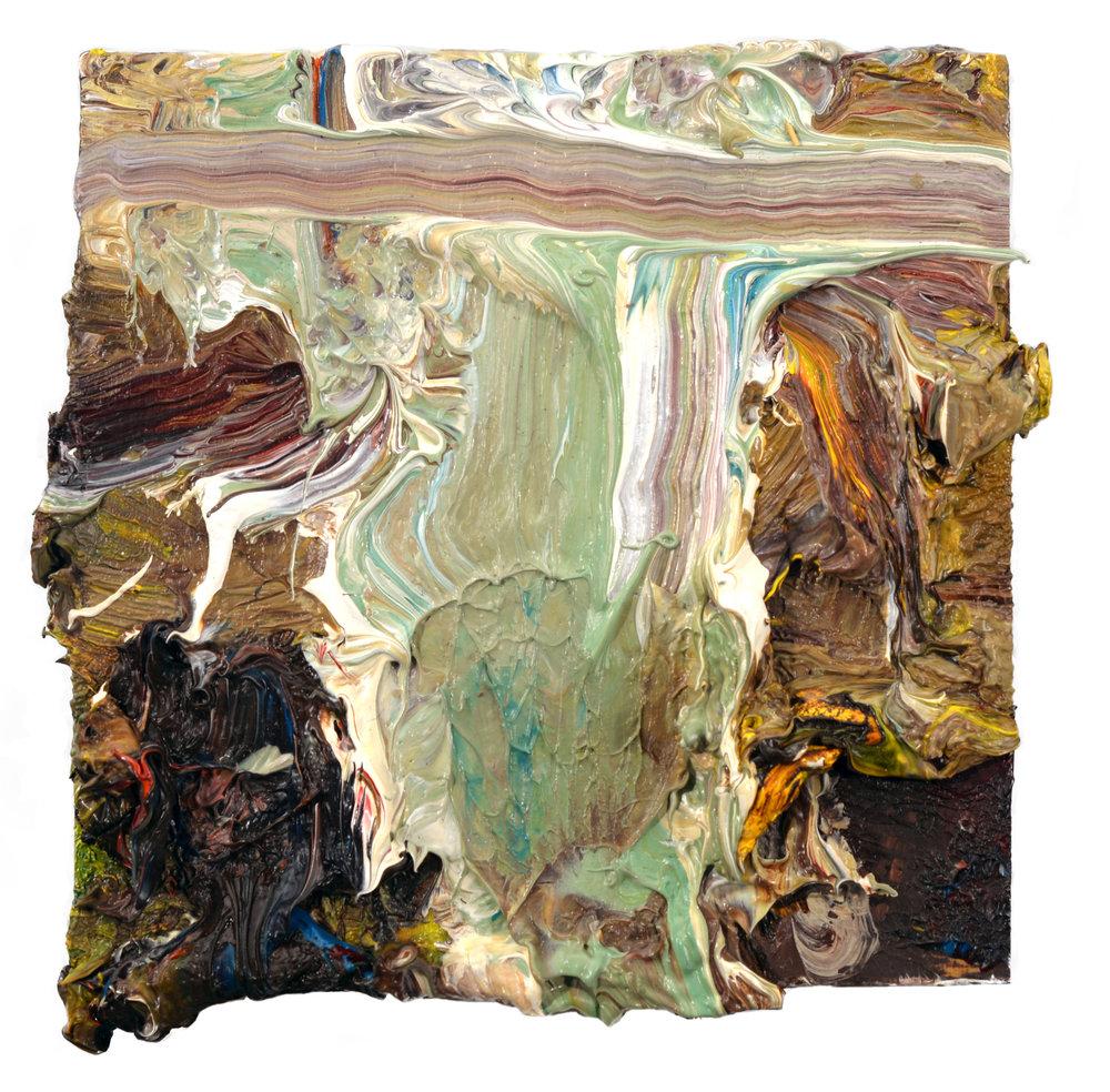 """Studio Interior"" oil on panel 4""x4"""