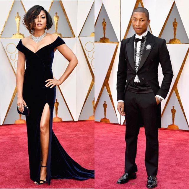 We love/ On adore #tarajiphenson  #albertaferretti #pharellwilliams #chanel #fashion #inspiration #instafashion #oscar2017