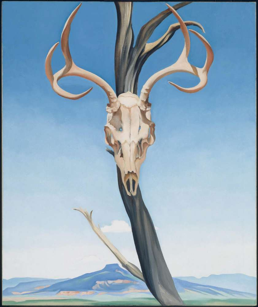 Deer's Skull with Pedernal, 1936