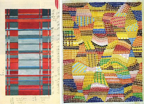Gunta Stölzl, sketches for weavings