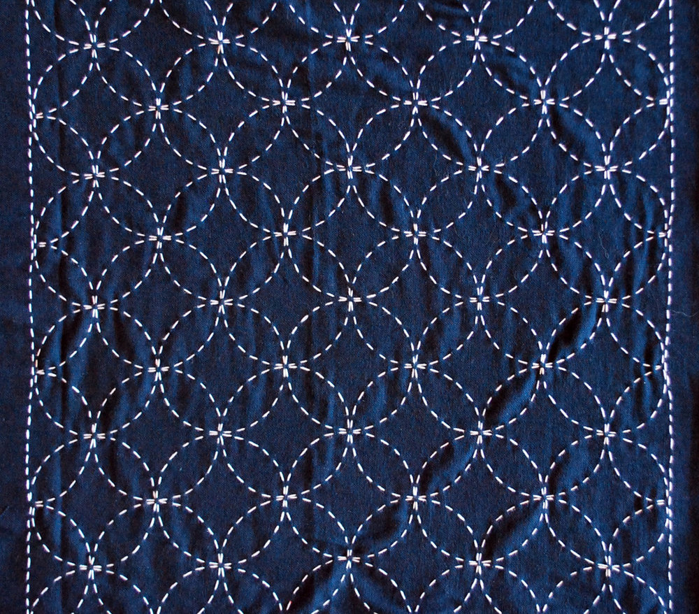 An example of a traditional Sashiko pattern from Markaroka