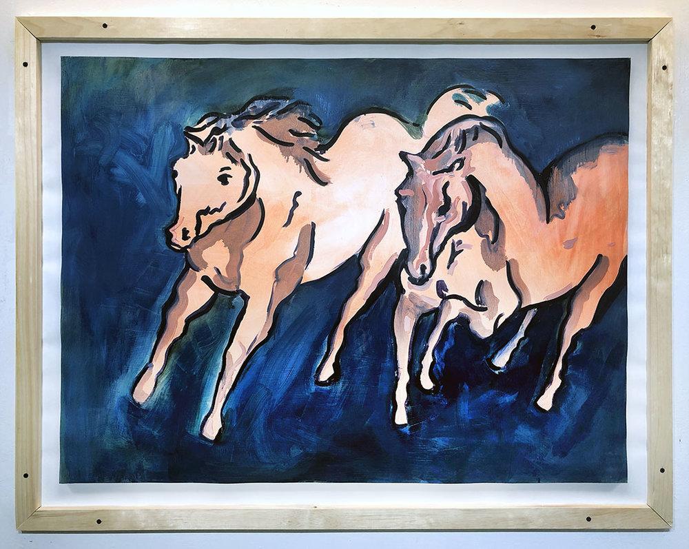 Horses  , Mixed media (wood, digital print), size, 2019